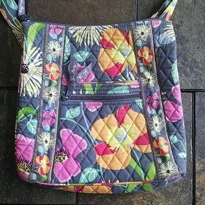 Vera Bradley Iconic Hipster in Jazzy Blooms Purse